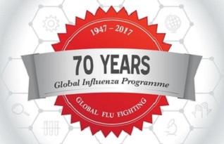 imagem do post do Organização Mundial da Saúde assinala aniversários de programa e rede mundial de vigilância da gripe