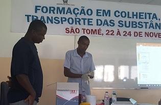 imagem do post do Instituto Ricardo Jorge garante ação de formação em São Tomé e Príncipe sobre transporte de substâncias infeciosas