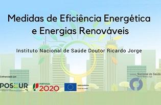imagem do post do Instituto Ricardo Jorge apresenta medidas de eficiência energética e energias renováveis a implementar no seu edifício-sede
