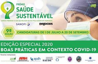 imagem do post do Prémio Saúde Sustentável 2020: continuam abertas as candidaturas