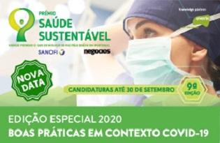 imagem do post do Prémio Saúde Sustentável 2020: prazo de candidaturas alargado até 30 de setembro
