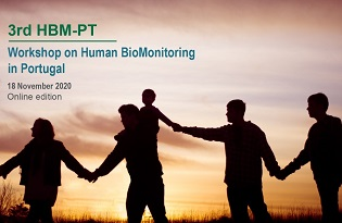 imagem do post do 3.º Workshop de Biomonitorização Humana em Portugal: prazo de submissão de resumos prolongado até 27 de outubro